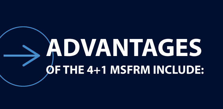 Advantages of the 4+1 MSFRM include