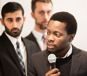 Black Graduate Student Speaks at a UConn Business School Event for Master's Students
